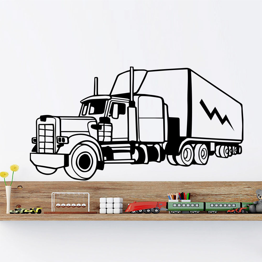 Wall Decals Trucks Trailer Tractor Big Machine Bedroom