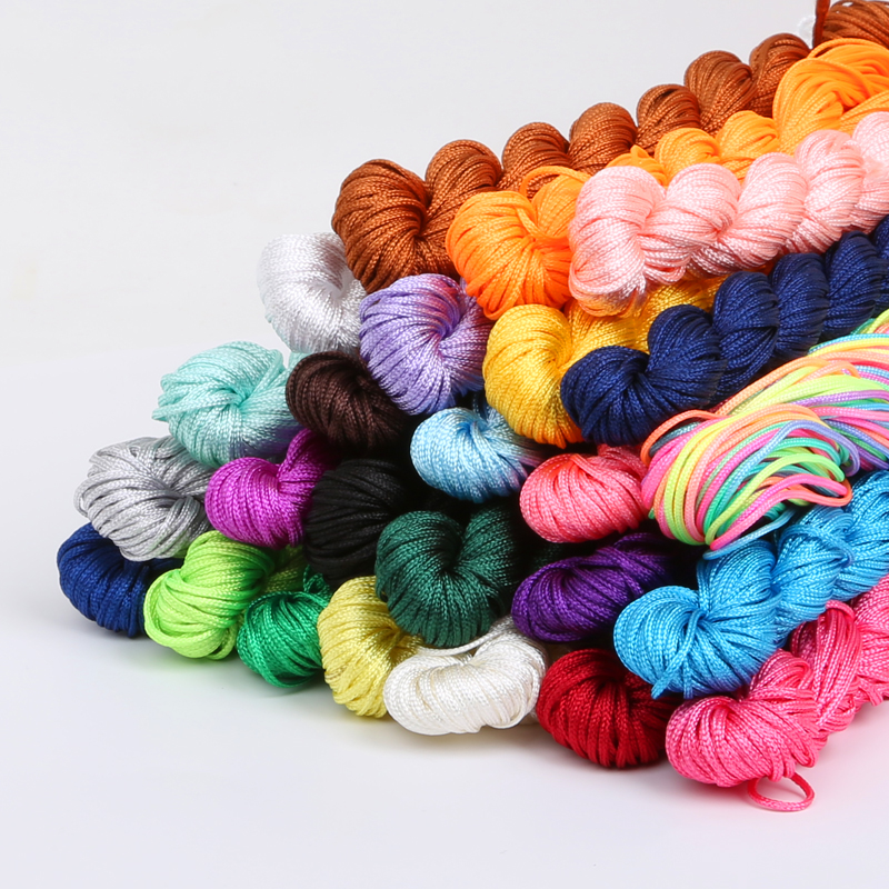 24 Meters/lot Chinese Knot Macrame String Bracelet Wire Cord Thread 1mm Dia, For DIY