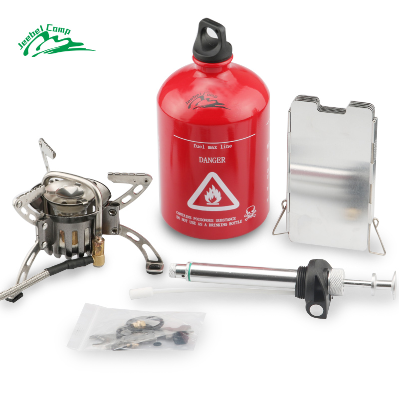 Jeebel DAS-8A Preheating Oil/Gas Multi-Use Outdoor Camping Stove Cooker Picnic Cookout Hiking Equipment Gasoline Stove jeebel oil stove oil box pumb outdoor oil and gas mixing non preheating oil gas mixing pump with plastic box camping