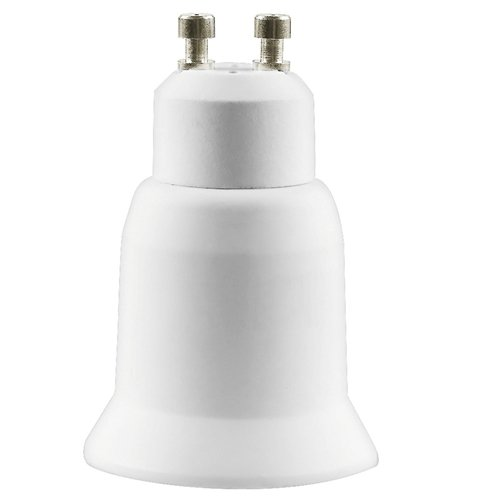 Ac/dc Adapters Cheap Price Edt-2 Packs White Led Light Gu10 To E27 Plug Adapter Can Be Repeatedly Remolded.
