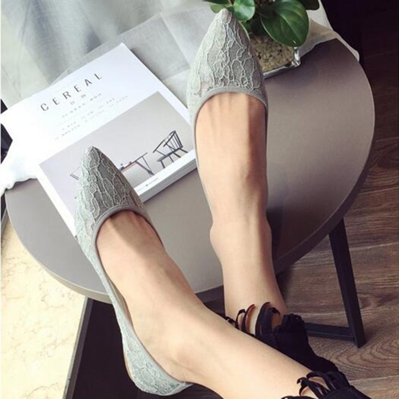 2017 summer new fashion sexy lace ladies flats shoes womens pointed toe shallow flats shoes black slip on casual loafers T033109 enmayer pointed toe summer shallow flats slip on luxury brand shoes women plus size 35 46 beige black flats shoe womens