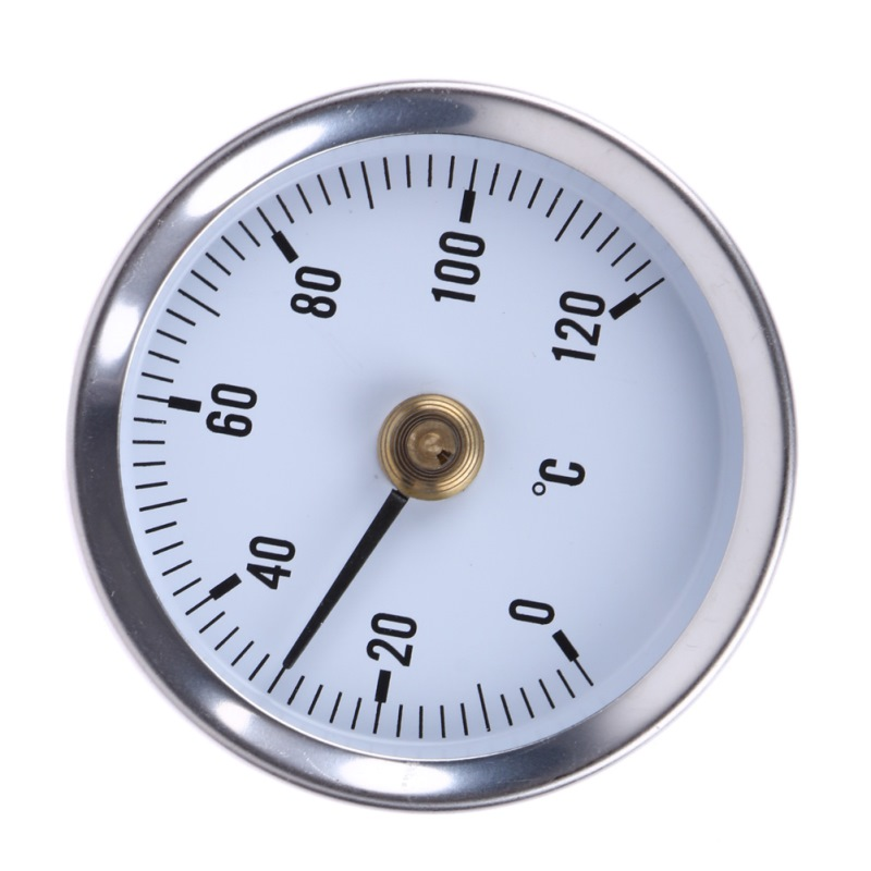 Thermometer Pipe Spring Clip-on Thermometer Temperature Gauge 63mm 0/120C Thermal 63mm Dial Dia