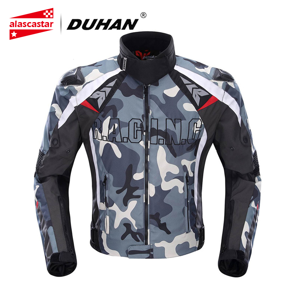 DUHAN Men s Oxford Cloth Motocross Off Road Racing Jacket Guards Clothing Camouflage Motorcycle Alloy Shoulder