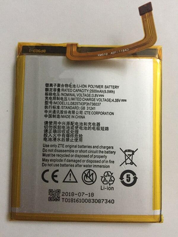2018 neue original 3,8 v 2500 mah Li3825T43P3h736037 Für ZTE BV0720/ZTE Blade A2/ZTE Blade V7 Lite dual SIM Batterie