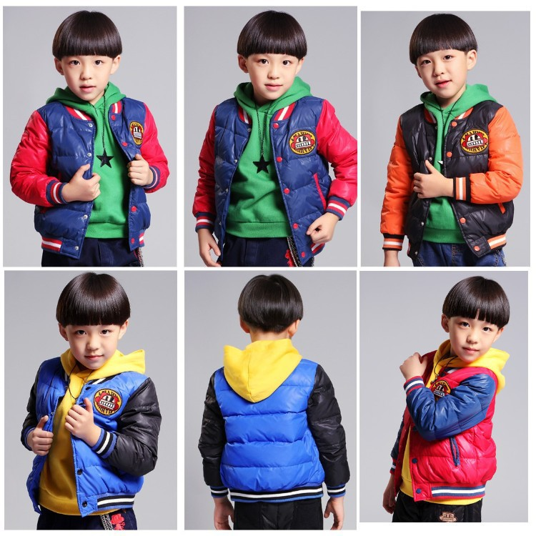 Free shipping New boy hooded winter color matching cotton quilted jacket ada instruments ruber x32