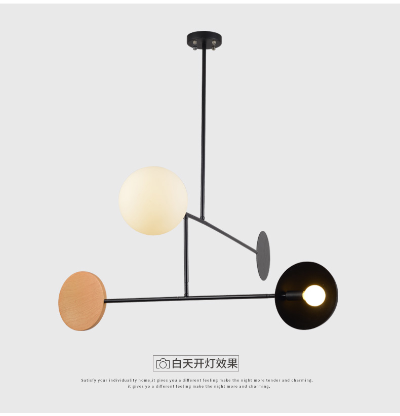 Artpad Creative Chandelier Lighting E27 E14 Ceiling Pole Hanging Light Dining Room Bedroom Living Room Home Lighting Fixtures
