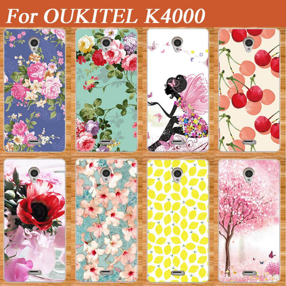 Colorful SOFT TPU Cover For Oukitel K4000 k4000 Brilliant Painting Case Lovely Fruits Design For OUKITEL K 4000 tpu Case Cover