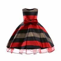 Baby Girl Dress New Bow Stripes Princess Dress Of Girls Baby Girl Reception Formal Dresses Girl