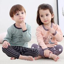 033fc05652a76a 2018 nowe bawełniane dla dzieci piżamy ustawia utrzymać ciepłe dziecko  dziewczyny chłopcy ubrania kreskówki dla dzieci