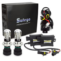 Safego 55w H4 55W HID Hi/lo Bixenon kit H4 bi xenon h4 flexible high low dual beam 4300k 6000k 8000k Bi xenon hid kit H4 3