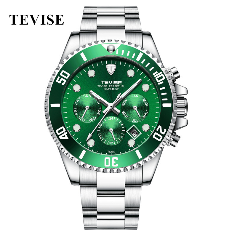 New TEVISE Automatic Watch Men Luxury Mechanical Men's Wristwatches Stainless Steel Waterproof Military Watch relogio masculino цена