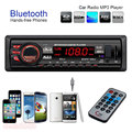 Bluetooth Car Audio Estéreo En el Tablero de FM Receptor de Entrada Aux USB SD MP3 Reproductor de Radio