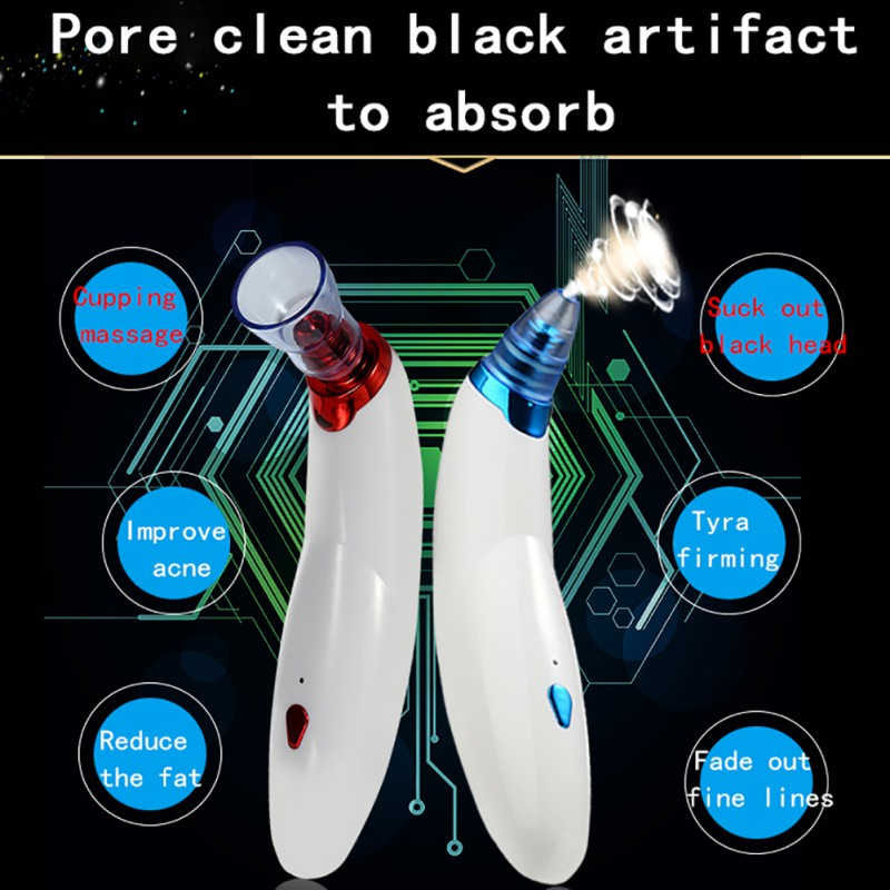 Facial Cleanser Vacuum Blackhead Remover Nose Blackhead Comedo Cleaner Acne Pimples Eliminator Face Care Suction Apparatus K8