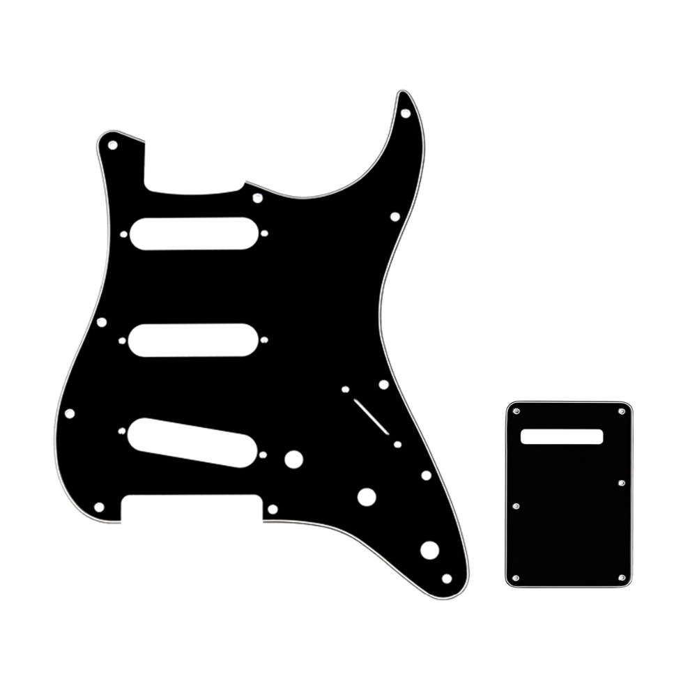 Musiclily SSS Strat Pickguard & Back Plate Set For Fender Stratocaster Strat US/Mexico Standard Modern Style Guitar Parts кровать из массива дерева austin furniture 1 8