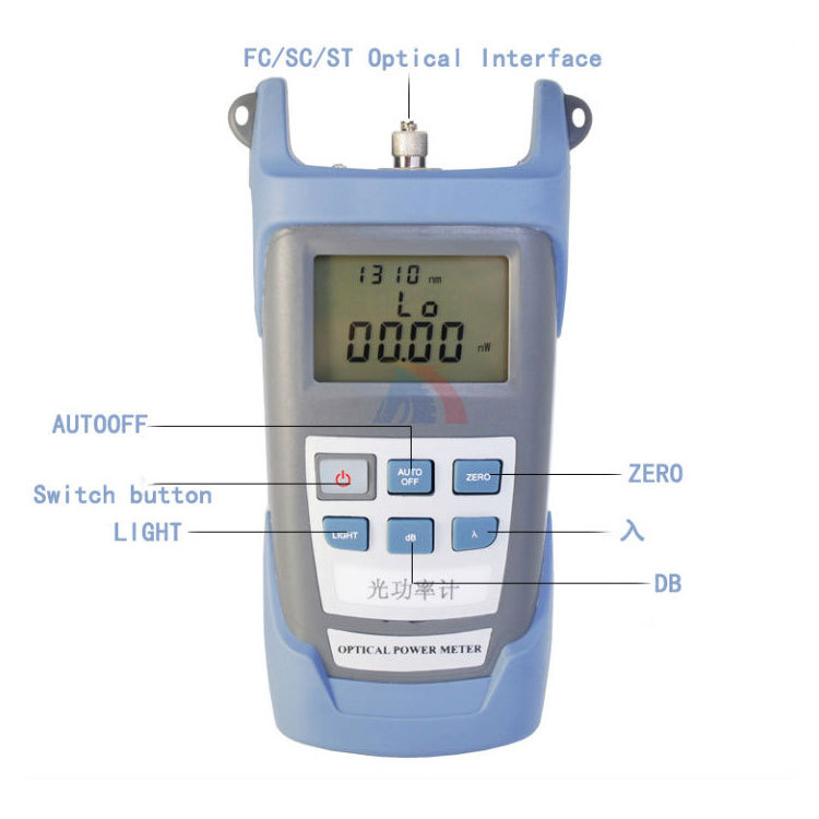 Free Shipping Portable optical power meter  tester fiber optic FC SC ST connector LCD Display ftth -70~+10 or -50~+26 mt 7601 fiber optic power meter laser fiber optic tester optical fiber power meter automatic identification frequency