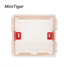 Minitiger 86mm * 83mm * 50mm caja de montaje transparente ajustable casete interno para 86 tipos WIFI Touch interruptor y enchufe USB(China)