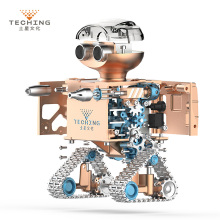 DIY Assembly Puzzle Metal Intelligent Control Robot Children Educational Toys