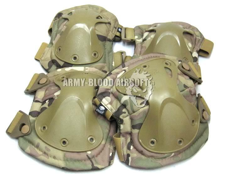 X-TAK Lettering Version Tactics Knee Elbow Group (brace) (MC BK ACU AT DE OD CB)