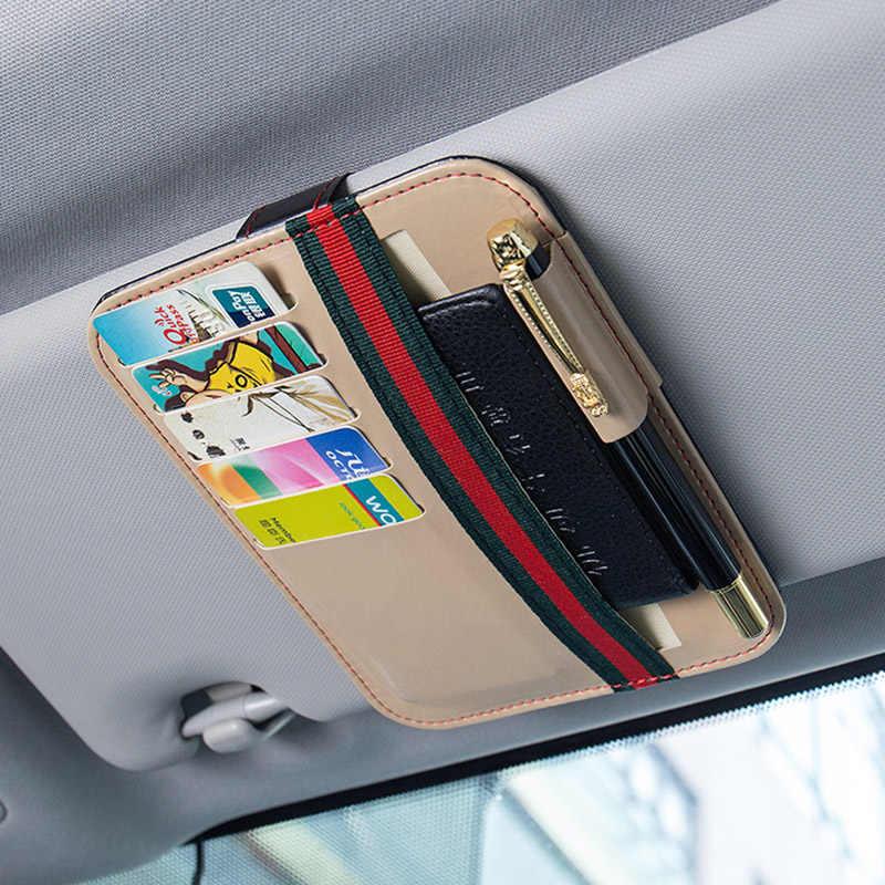 Автомобильный солнцезащитный козырек, очки, очки держатель для карт органайзер для автомобиля на заднем сиденье для хранения Коробка для монтажа на Сумочка для документов автомобильный футляр для солнечных очков Авто Стайлинг