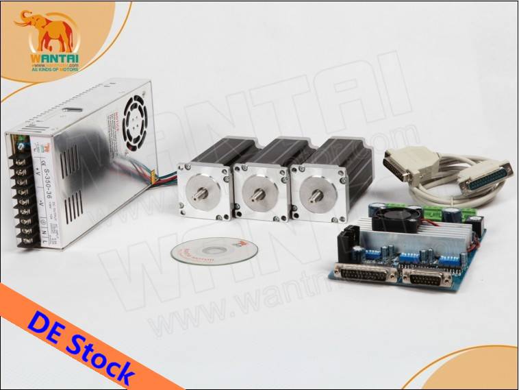 Germany Free! Wantai <font><b>CNC</b></font> Nema 23 Stepper Motor 57BYGH603 1A 290oz-in+<font><b>3</b></font> <font><b>Axis</b></font> Driver Board TB6560 Printer <font><b>Mill</b></font> Engraver <font><b>Kit</b></font> image