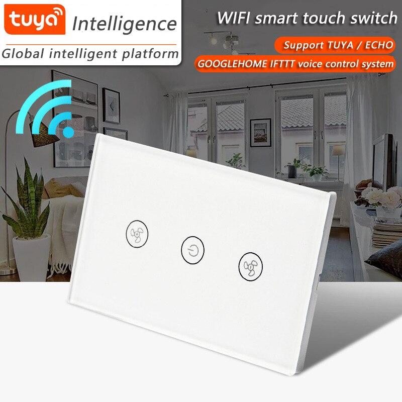 米国 WiFi チュウヤスマート Decke ファン Schalter APP リモートタイマーウント Geschwindigkeit 制御 Kompatibel mit Alexa ウント Google ホーム  グループ上の ライト & 照明 からの スイッチ の中 1