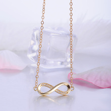 LZESHIN Trendy Silver Color New 8 Shape Geometric Necklaces & Pendants For Women Fashion Chain Necklace Statement Jewelry