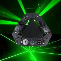 Neue design einzelne grüne 50 mw 9 augen moving head spinne laserlicht dj lichter für bar show club