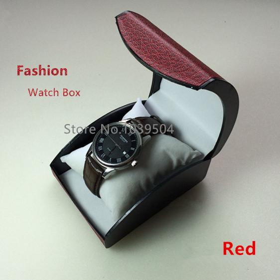 Cheap Plastic Watch Storage Box Red Brand Bracelet And Watch Boxes With Pillow Fashion Packing Box Gift Box