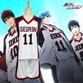 6styles Kuroko no Basuke SEIRIN basketball uniforms clothes Number 4 7 10 11 16 unisex Kuroko Tetsuya Sport cosplay costume