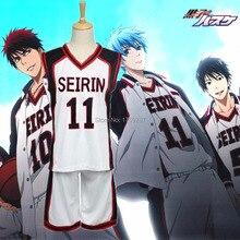 Kuroko không Basuke SEIRIN Basket Ball Đồng Phục Cosplay Costume Kuroko của Bóng Rổ Kuroko Tetsuya Nam Giới và Phụ Nữ Sportswear Jersey