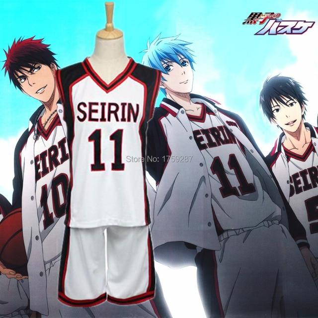 21ccbc46255 Kuroko no Basuke SEIRIN Basket Ball Uniforms Cosplay Costume Kuroko's  Basketball Kuroko Tetsuya Men & Women Sportswear Jersey
