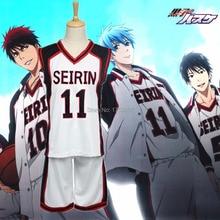 ملابس رياضية لكرة السلة من Kuroko no Basuke SEIRIN ملابس تنكرية لكرة السلة من Kurokos لكرة السلة من Kuroko Tetsuya للرجال والنساء