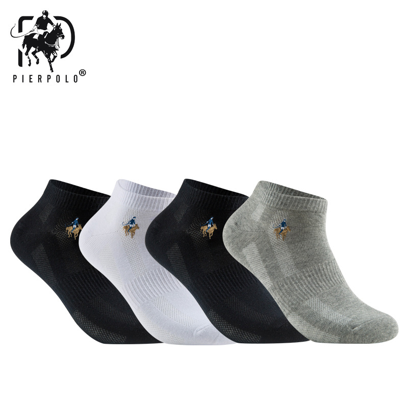 10 Pairs/lot Summer Style Cotton Mesh Short Socks For Men LOGO Embroidery High Quality Business Leisure Sports Male Socks Size