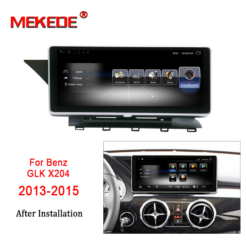 Free shipping!Android7.1 4G lte Car stereo head unit navigation GPS NAVI DVD player for Mercedes Benz GLK X204 2013 2014 2015