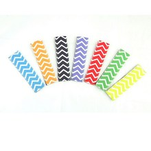 12pcs Chevron Neoprene Popsicle Holders Pop Ice Sleeves Freezer Summer Icy Block Lolly Holder mix  7 Color
