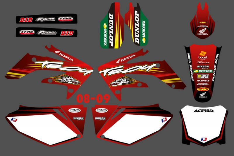 H2CNC GRAPHICS & BACKGROUND DECAL STICKER Kits for Honda CRF250 CRF250R 2008 2009 CRF 250 250R CRF 250 R new hot 2014 2015 two sides new aluminum radiator for honda crf 250 r crf250r crf250 brand motorcycle both of side of oem parts