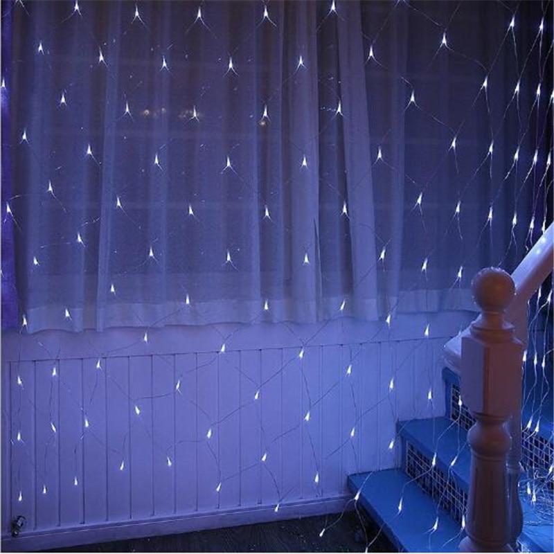 1.5M*1.5M LED String Light Fairy Net Lamp Mesh Curtain Ceiling Party Holiday Led For Plant Xmas Wedding Decoration 220V 230V Led
