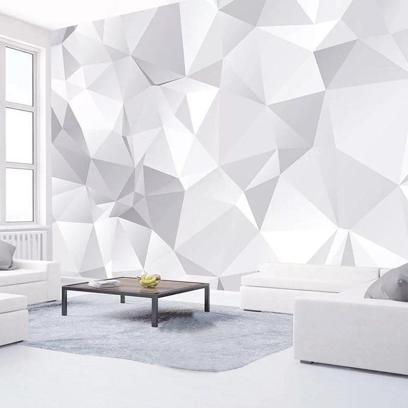 Custom Mural Wallpaper 3D Abstract Art Geometric Photo Wall Paper Living Room TV Background Wall Home Decor 3 D Papel De Parede