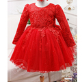 new brand baby girl mini bubble Ball Gown dress kids girl cotton casual solid long sleeve bow dress girl princess dress clothes