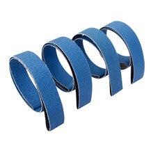 DRELD 4Pcs 2100*50 mm Aluminium Oxide Abrasive Sanding Belts Grinder Sander Belt Knife Sharpener Tool 40# 60# 80# 120# Assorted