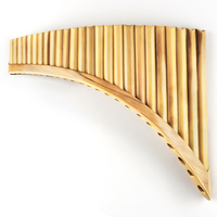 Moonlady Light Weight good Sound 25 Pipes G Key Chinese Folk Musical Wind Instrument Reed Pan Flute Panflute Pan pipes Flauta