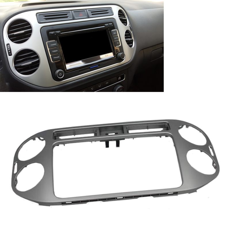 JEAZEA 1pc Central Dashboard Panel Navigation Frame Air Vent Outlet Cover Car Accessories For VW Tiguan