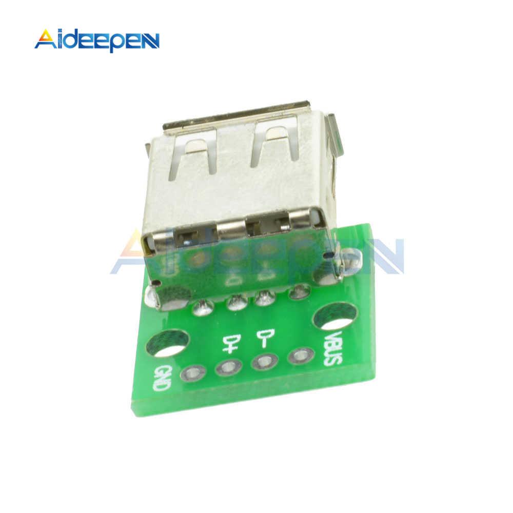 5Pcs ประเภทหญิง USB ไปยัง DIP 2.54MM PCB Board อะแดปเตอร์แปลง Micro USB หญิง Pinboard สำหรับ arduino