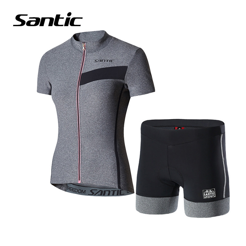 Santic Summer Cycling Jersey Sets Women Short Sleeve Cycling Clothes Bicycle Clothing Maillot Ciclismo 2018 MTB Road Bike Set breathable cycling jersey summer mtb ciclismo clothing bicycle short maillot sportwear spring bike bisiklet clothes ciclismo
