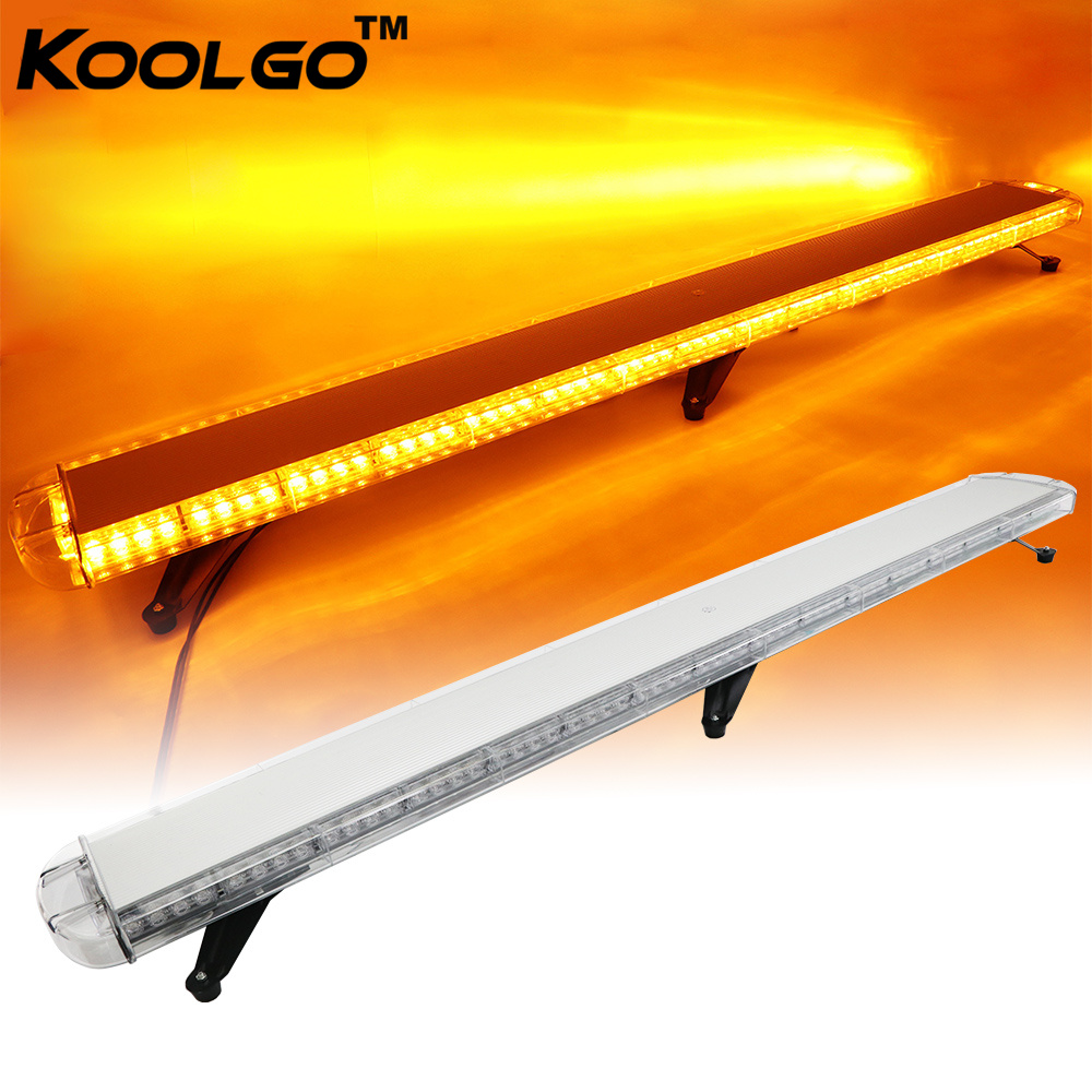 "51/"" Amber LED Flashing Emergency Warning Traffic Adviser Strobe Light Bar 25/"""