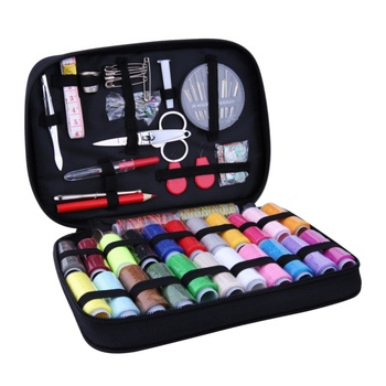 1 Set Crafts Jointing Sewing Machine Tools Accessories 22 Colors Sewing Thread Sewing Needle Sewing Materials Storage Organizer фото