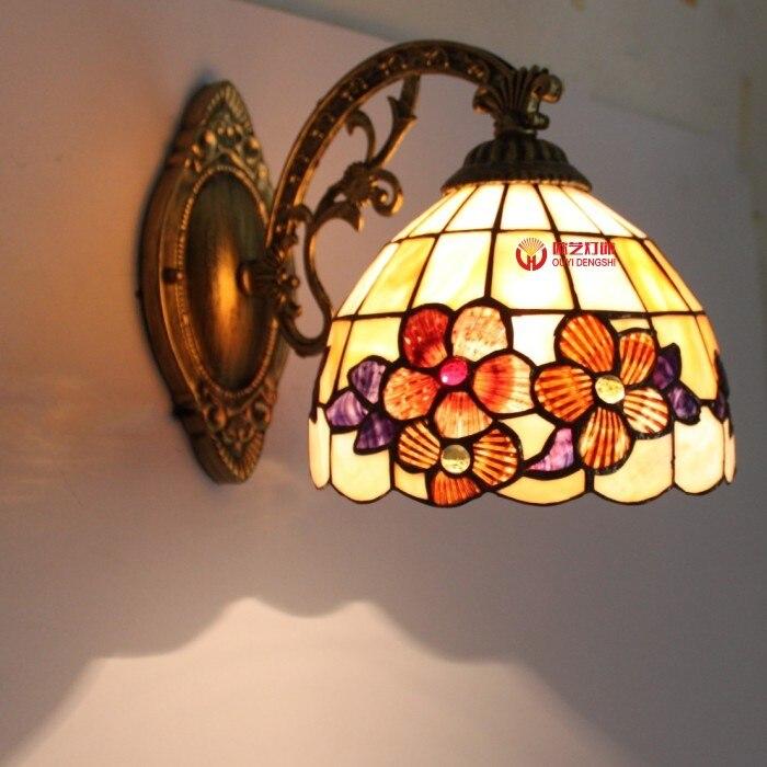 Зеркало в ванной свет В виде ракушки стали бра ночники