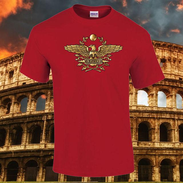b2f69e22 SPQR Roman Golden Eagle Imperial Quality Premium gift T-Shirt New T Shirts  Funny Tops