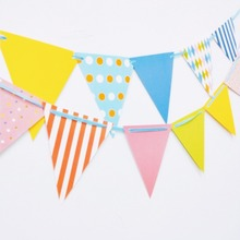 1pc/set Colour Graduation Party Pennant Bunting Birthday Flag Banners Kids Adult Supplies Decoration flag