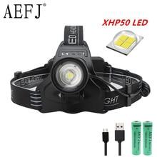 60000 lumens high powerful led headlamp Lamp headlight head torches rechargeable xhp50 head lamp power flashlight